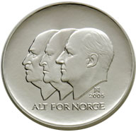 100-krone commemorative coin 2005, obverse
