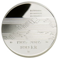 100-krone commemorative coin 2005, reverse