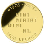 1500-krone commemorative coin 2005, reverse