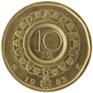 10-krone coin, nickel silver