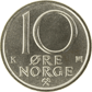 10-øre coin, cupro-nickel