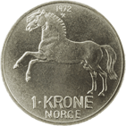 1-krone coin, cupro-nickel
