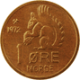 1-øre coin, bronze