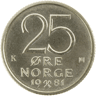 25-øre coin, cupro-nickel