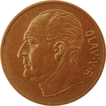 5-øre coin, bronze