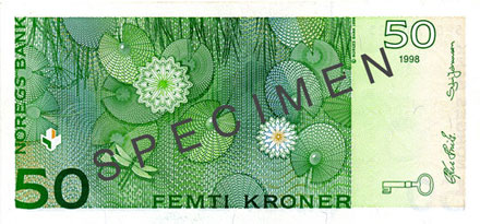 50-krone note – non-upgraded